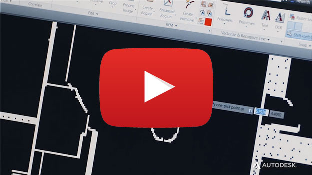 autocad raster design video overview