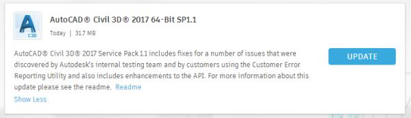 AutoCAD Civil 3D 2017 Service Pack 1.1