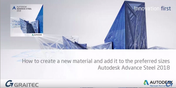 Adding New Materials to Your Preferred Sizes Category in Advance Steel