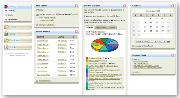 Online-e-training-management-dashboard